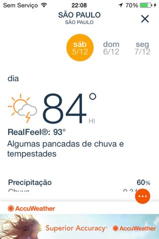 AccuWeather: Weather Tracker screenshot 2