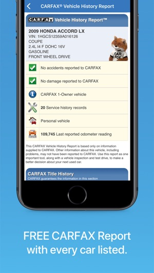 carfax find used cars for sale on the app store rh itunes apple com