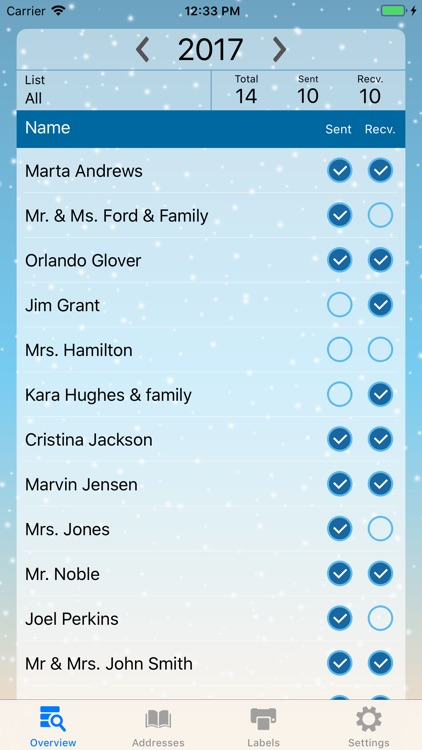 The Christmas Card List By David Breed