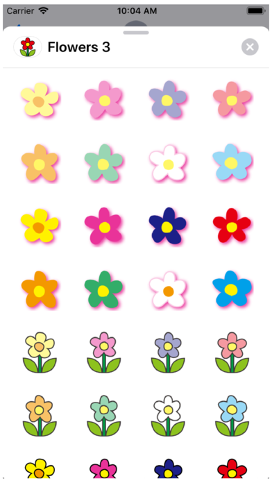Flowers 3 Stickers Screenshot