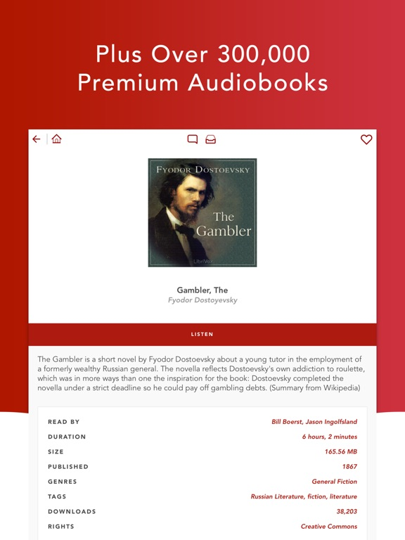 Audiobooks HQ - audio books Screenshots