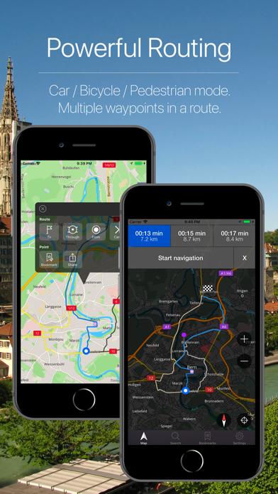 Switzerland Offline Navigation Screenshot