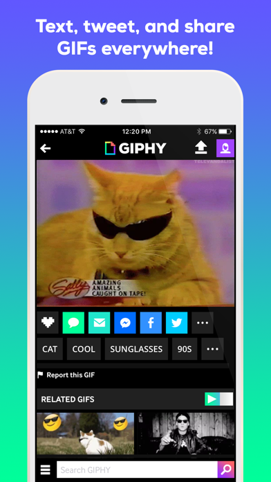 Screenshot 2 for GIPHY's iPhone app'