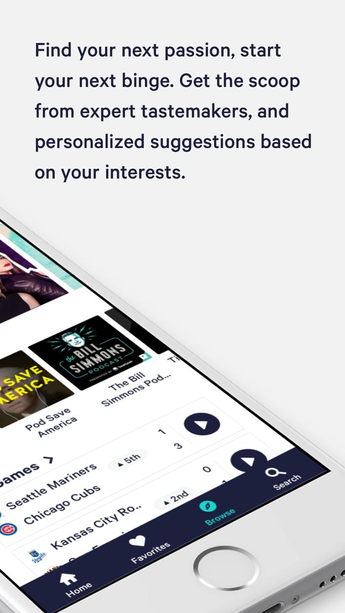 TuneIn: Radio, MLB & Podcasts Screenshot