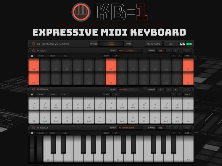 KB-1 MIDI Keyboard screenshot-0