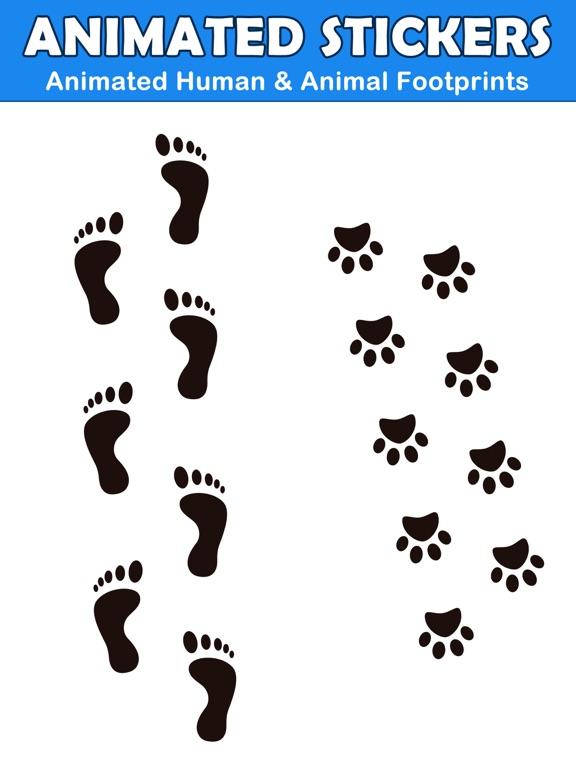 Animated Footprint Stickers screenshot 3