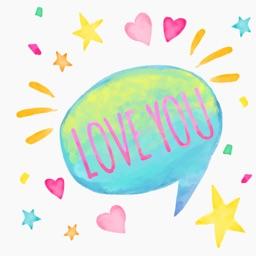 Love Watercolor stickers