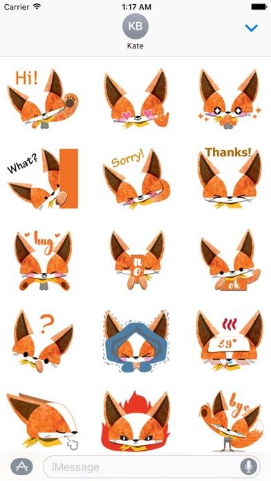 Adorable Fox FoxMoji Sticker screenshot 1