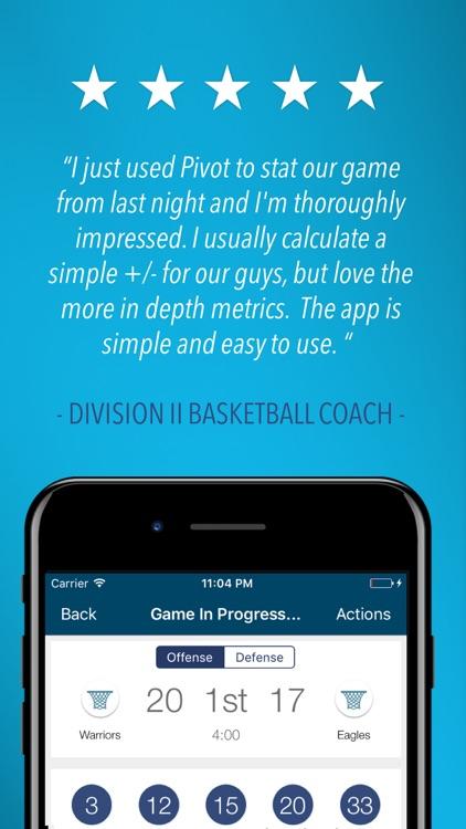 Pivot Basketball Stat Tracker
