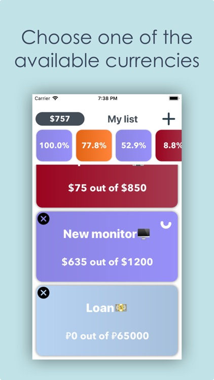 Money box App - Plan purchases screenshot-5
