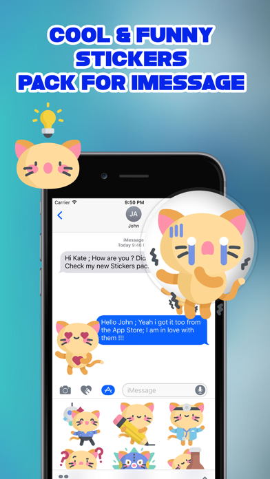 Sassy The Cat Emoji Stickers screenshot three