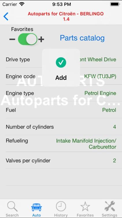 Autoparts for Citroën