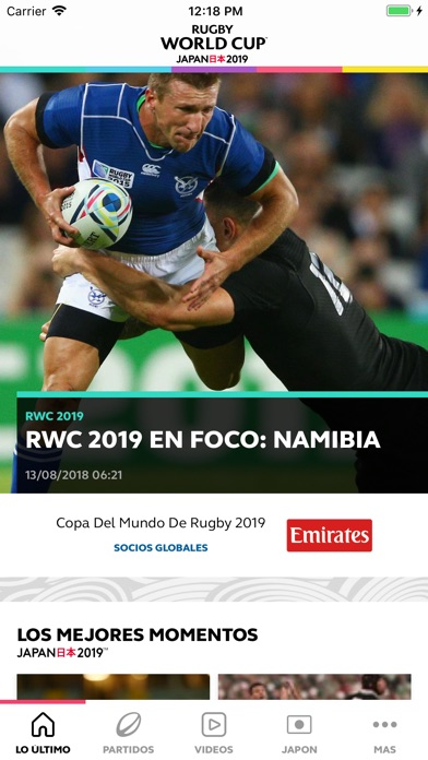 Screenshot for Copa del Mundo de Rugby 2019 in Chile App Store