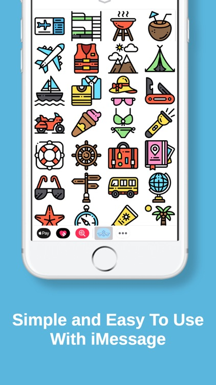Travel Stickers for iMessage