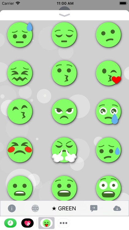 GREEN Emoji • Stickers screenshot-3
