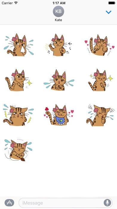 Lovely Bengal Cat Sticker screenshot 3