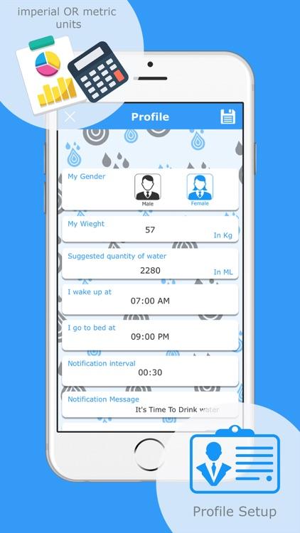 Drink Water Track-Reminder Pro screenshot-4