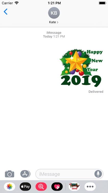 Happy New Year 2019 Sticker