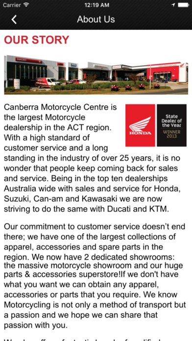 Canberra Motorcycle Centre screenshot four