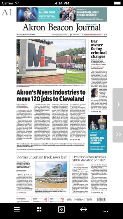 Akron Beacon Journal e-Edition
