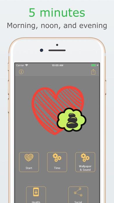Cardiac coherence assistant Screenshots