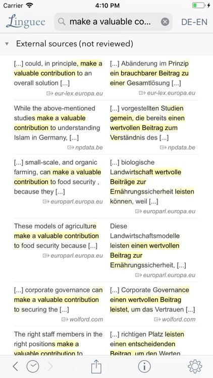 Dictionary Linguee screenshot-3