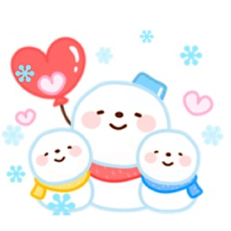 Cute Snowman Emoji Sticker