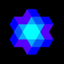 Kaleidoscope geometric Art - physical simulation