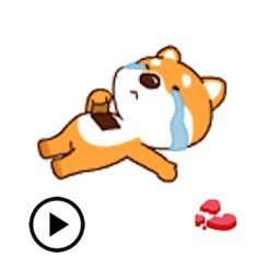 Animated Lonely Dog Sticker