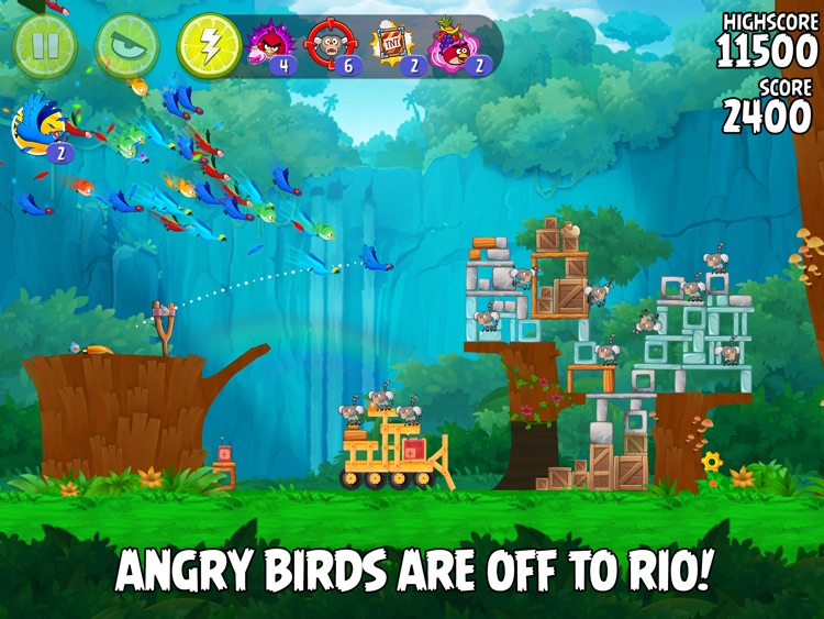 Angry Birds Rio HD screenshot-0