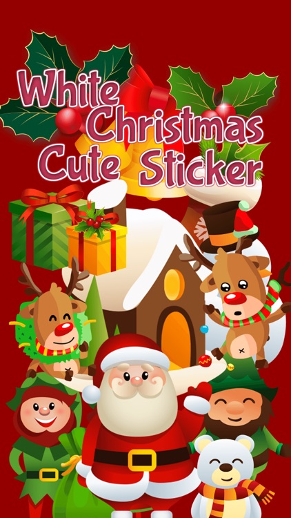 White Christmas Cute Sticker