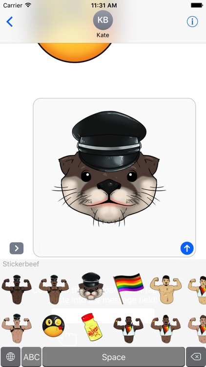 Stickerbeef : LGBTQ, BDSM emoji and stickers