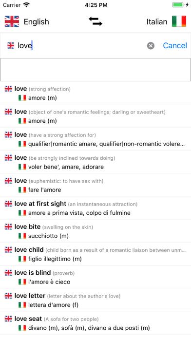Italian Dictionary - English screenshot three