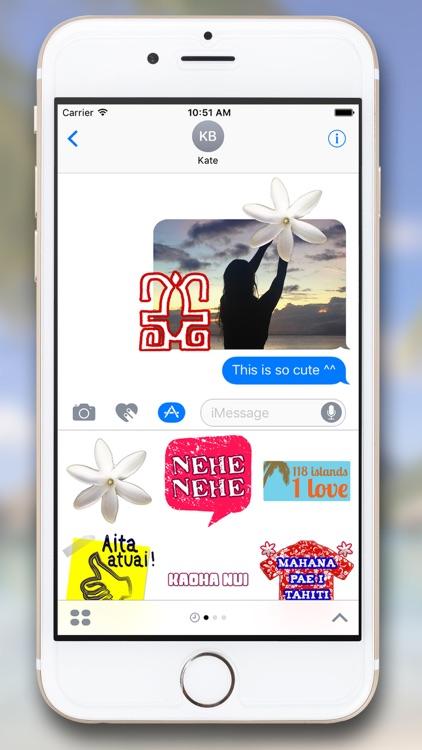 Tahiti Stickers for iMessage screenshot-3