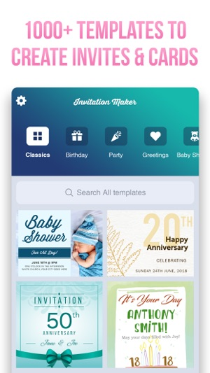 Invitation maker invite maker on the app store screenshots iphone ipad stopboris Image collections