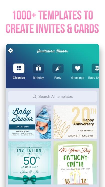 Invitation Maker- Invite Maker screenshot-0