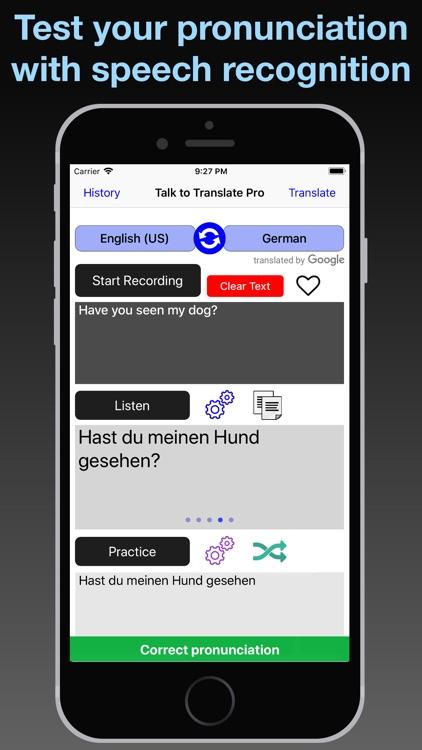 T2T Pro: Speech Translation screenshot-3