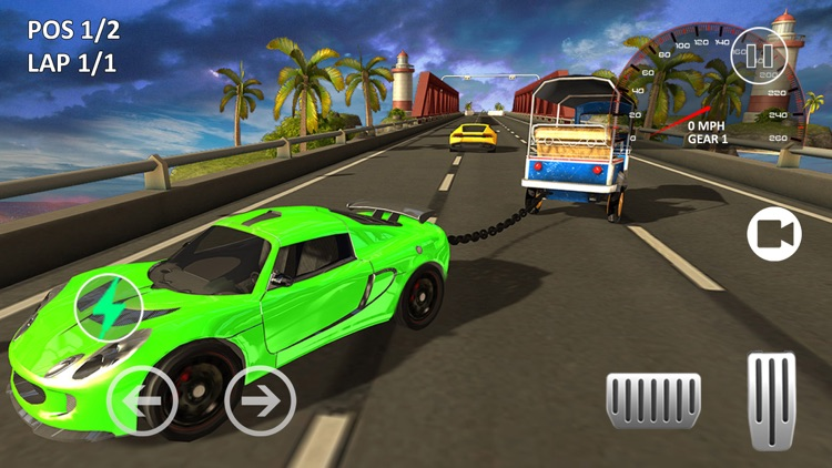 Tuk Tuk Chained Car Racing screenshot-3