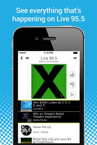 Portland's Live 95.5 Radio App screenshot 1