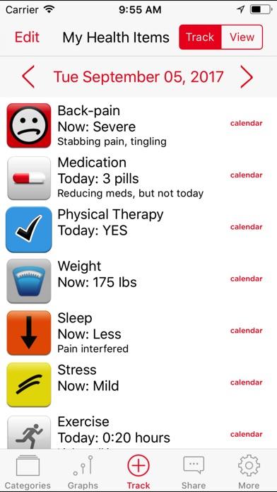 Symptom Tracker By Tracknshare review screenshots