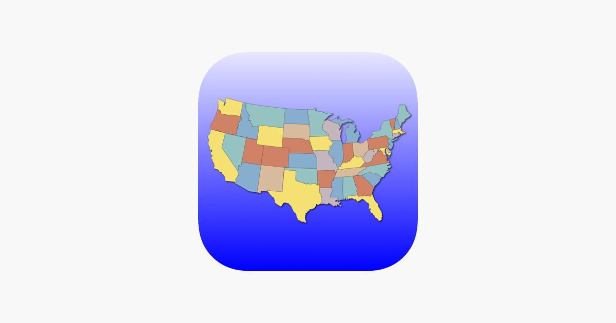 United States Map Quiz dans l'App Store