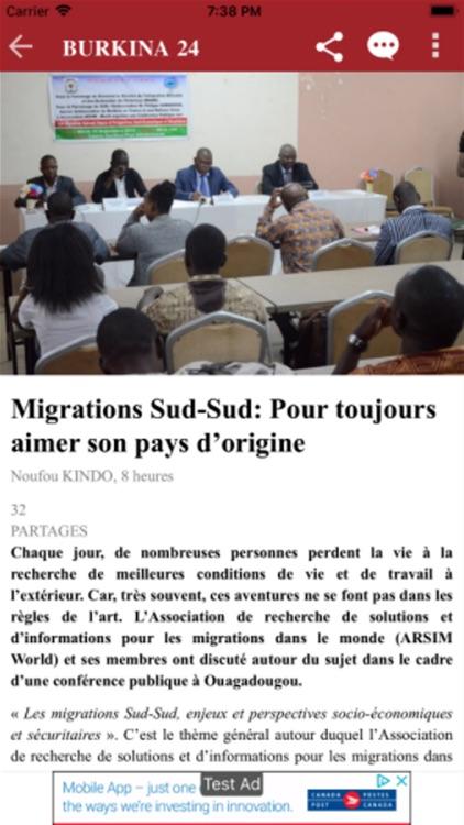 Burkina 24 app screenshot-3