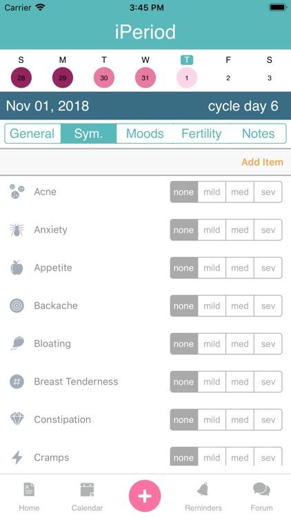 iPeriod Lite Period Tracker screenshot-4