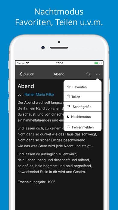 Deutsche Gedichte - SammlungScreenshot von 5
