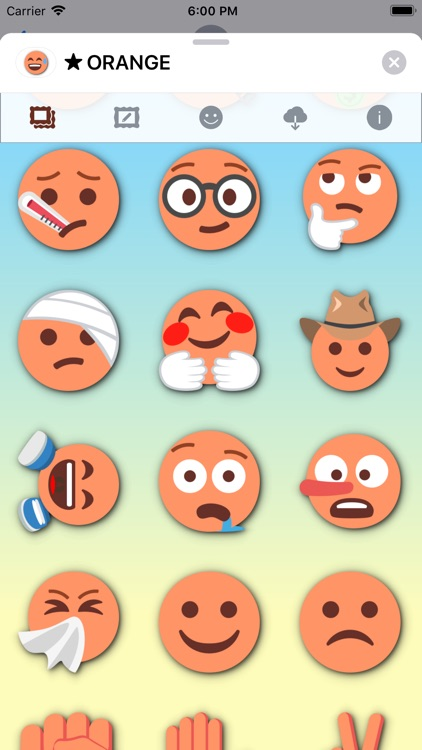 ORANGE Emoji • Stickers screenshot-8