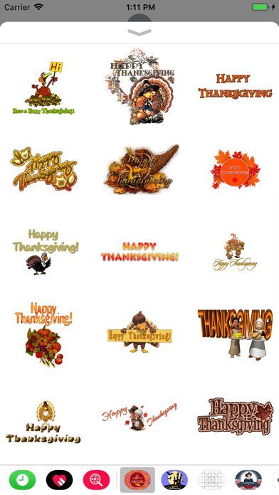 Thanksgiving Day GIF Stickers screenshot two
