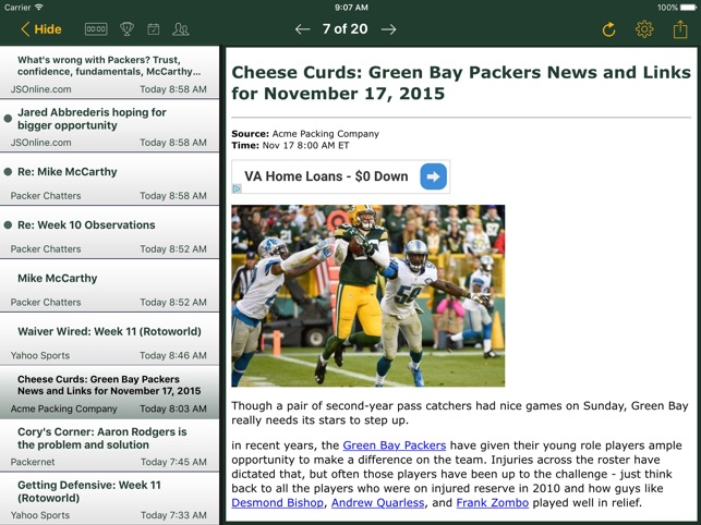 85c170cc5  Football News - Packers on the App Store