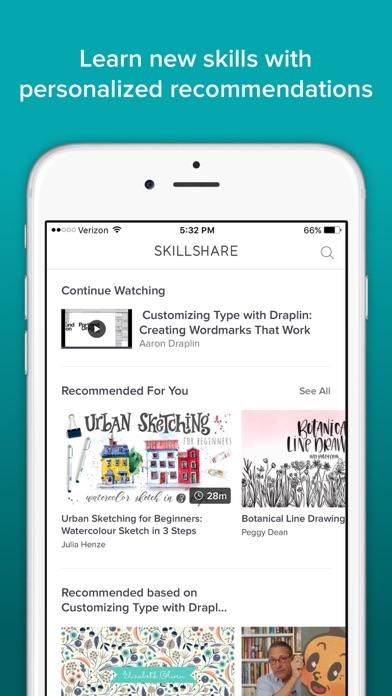 Skillshare Online Classes app image