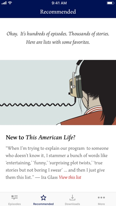 This American Life review screenshots
