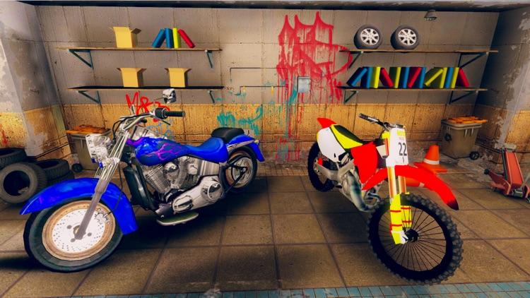 Dirt Bike Stunt Race-r Game 3D screenshot-5